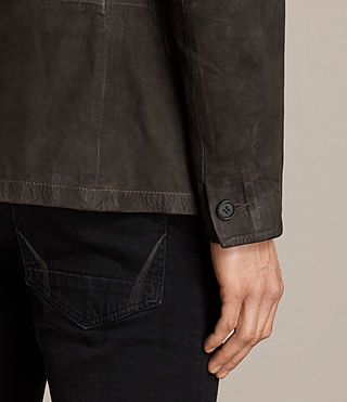 Uomo Merson Leather Blazer (ANTHRACITE GREY) - product_image_alt_text_5