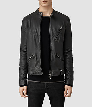 Men's Tide Leather Jacket (Slate)