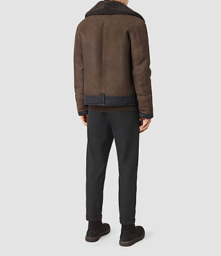 Uomo Dachi Shearling Coat (Bitter Brown) - product_image_alt_text_6