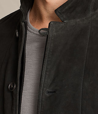 Men's Seymour Leather Blazer (Black) - product_image_alt_text_2