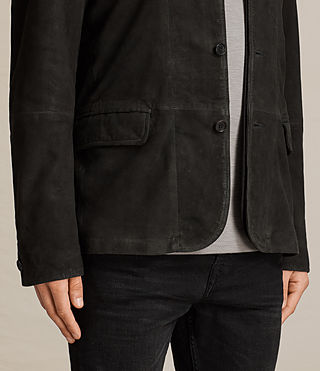 Men's Seymour Leather Blazer (Black) - product_image_alt_text_4