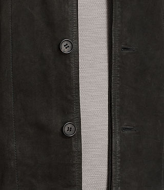 Men's Seymour Leather Blazer (Black) - product_image_alt_text_5