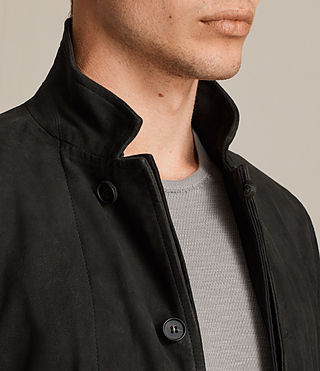Men's Seymour Leather Blazer (Black) - product_image_alt_text_6