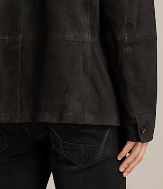 Men's Seymour Leather Blazer (Black) - product_image_alt_text_7