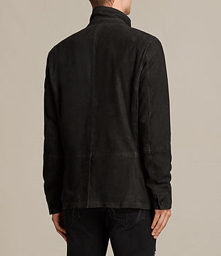 Men's Seymour Leather Blazer (Black) - product_image_alt_text_8