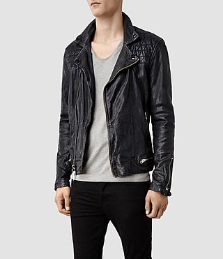 Men's Conroy Leather Biker Jacket (Ink) - product_image_alt_text_2