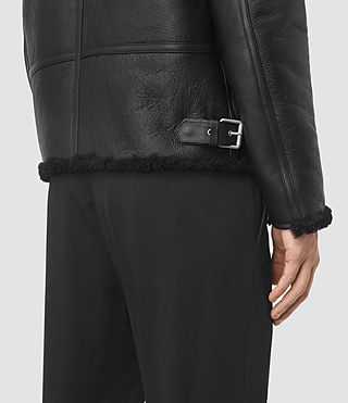 Mens Deklan Shearling Jacket (Black) - product_image_alt_text_5