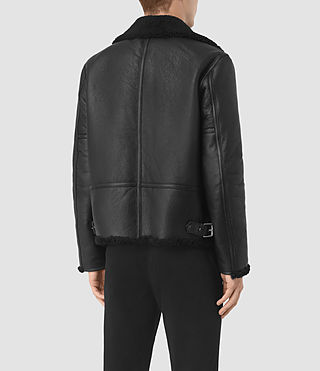 Mens Deklan Shearling Jacket (Black) - product_image_alt_text_6