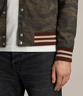 Herren Mason Suede Bomber Jacket (KHAKI BROWN CAMO) - product_image_alt_text_2