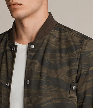 Men's Mason Suede Bomber Jacket (KHAKI BROWN CAMO) - product_image_alt_text_4