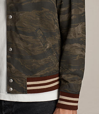 Mens Mason Suede Bomber Jacket (KHAKI BROWN CAMO) - product_image_alt_text_6