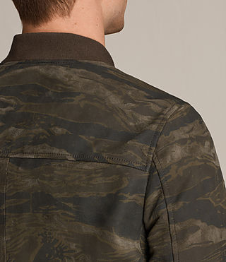 Mens Mason Suede Bomber Jacket (KHAKI BROWN CAMO) - product_image_alt_text_7