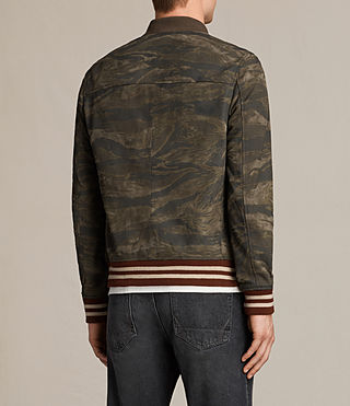 Mens Mason Suede Bomber Jacket (KHAKI BROWN CAMO) - product_image_alt_text_8