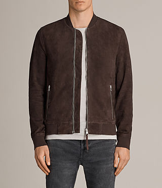 Men's Kaigo Suede Bomber Jacket (CARMINE RED) - Image 1