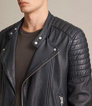 Mens Jasper Leather Biker Jacket (Ink) - product_image_alt_text_2