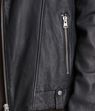 Hombre Jasper Leather Biker Jacket (Ink) - product_image_alt_text_4