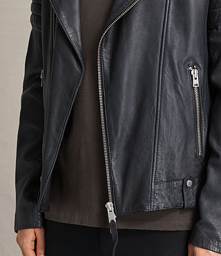 Hombre Jasper Leather Biker Jacket (Ink) - product_image_alt_text_5
