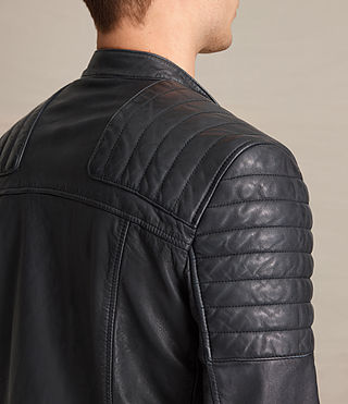 Hombre Jasper Leather Biker Jacket (Ink) - product_image_alt_text_6