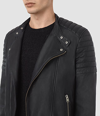 Men's Jasper Leather Biker Jacket (INK NAVY) - product_image_alt_text_3