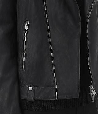 Hombres Jasper Leather Biker Jacket (INK NAVY) - product_image_alt_text_4