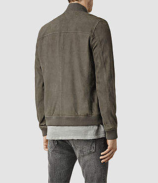 Mens Kurne Leather Bomber (Steel Grey) - product_image_alt_text_3