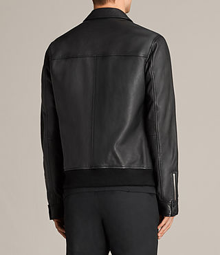 Mens Hester Leather Jacket (Black) - Image 6