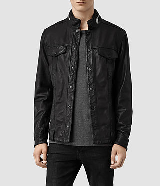 Men's Holmes Leather Shirt (Black)
