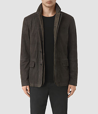Men's Yuzu Suede Blazer (DARK SLATE GREY)