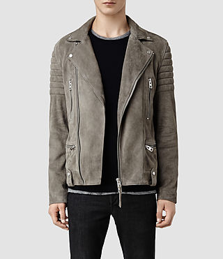 Men's Murphy Leather Biker Jacket (Cement)