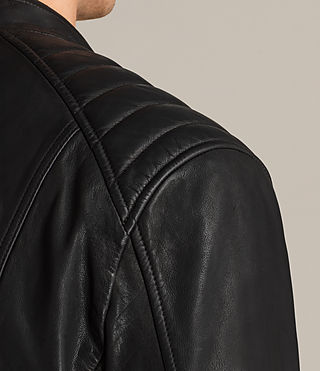 Mens Reimer Leather Biker Jacket (Black) - product_image_alt_text_5