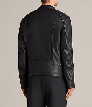 Mens Reimer Leather Biker Jacket (Black) - product_image_alt_text_8