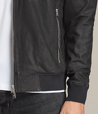 Mens Kino Leather Bomber Jacket (INK NAVY) - product_image_alt_text_7