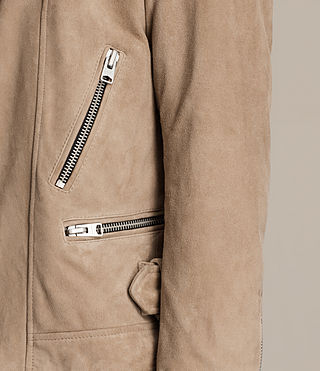 Mens Leo Suede Biker Jacket (SAND BROWN) - product_image_alt_text_6