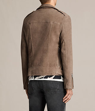 Men's Jennings Suede Biker Jacket (Light Khaki) - product_image_alt_text_7
