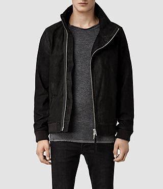 Men's Sylar Leather Jacket (Washed Black)
