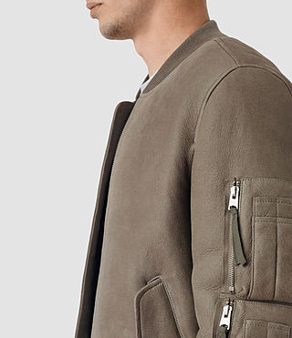 Hommes Rogan Shearling Bomber Jacket (Shale) - product_image_alt_text_5