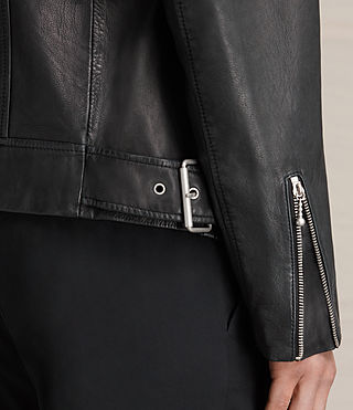Mens Colter Leather Biker Jacket (Black) - product_image_alt_text_6