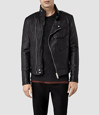 Men's Chatton M65 Leather Jacket (Black)