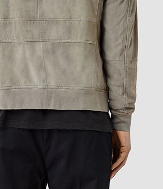 Hombres Daigo Suede Bomber Jacket (CEMENT GREY) - product_image_alt_text_4
