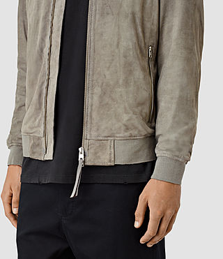 Hombres Daigo Suede Bomber Jacket (CEMENT GREY) - product_image_alt_text_5