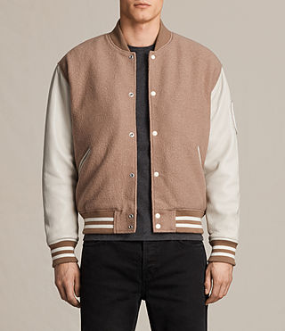 Herren Base Bomber Jacket (SMOKE ORANGE/WHITE)
