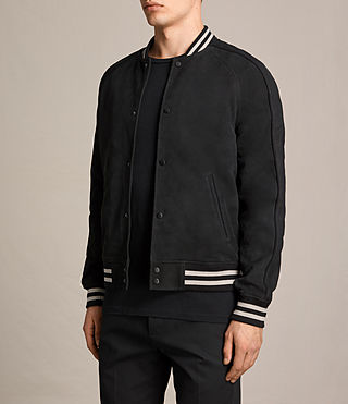 Herren Stanson Suede Bomber Jacket (INK NAVY/BLACK) - product_image_alt_text_4