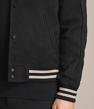 Herren Stanson Suede Bomber Jacket (INK NAVY/BLACK) - product_image_alt_text_5
