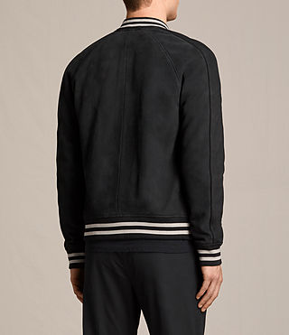Herren Stanson Suede Bomber Jacket (INK NAVY/BLACK) - product_image_alt_text_8