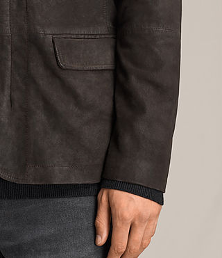 Mens Balmorro Leather Blazer (ANTHRACITE GREY) - Image 4