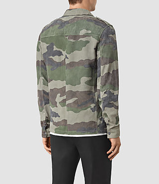 Uomo Pier Suede Shirt (KhakiBrownCamo) - product_image_alt_text_5