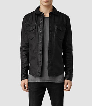 Men's Alberton Leather Shirt (Black)