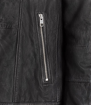 Men's Kushiro Leather Biker Jacket (Black) - product_image_alt_text_4