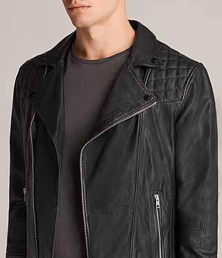 Mens Kushiro Leather Biker Jacket (Black) - product_image_alt_text_6