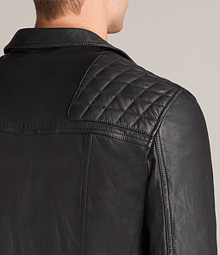 Mens Kushiro Leather Biker Jacket (Black) - product_image_alt_text_7